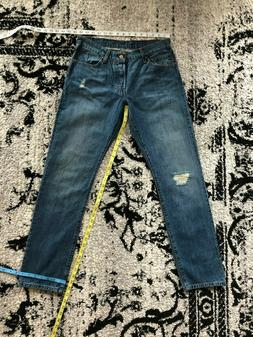 Women's Levi's 501 Original Fit Button Fly Medium Wash Denim