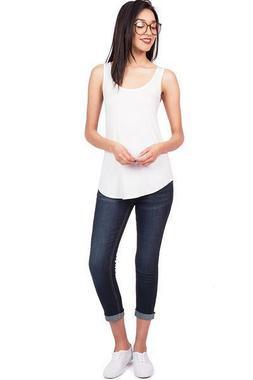 Wax Jeans Women's Mid Rise Capri Denim Jeans Fitted Comforta