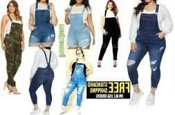 Women's Plus Size LONG & SHORTS Overalls Jumpsuit Distressed