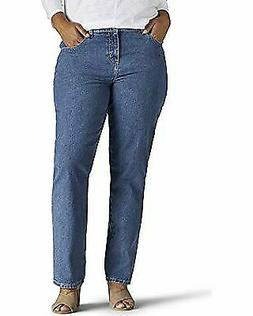 Lee Women's Plus-Size Relaxed Fit All Cotton Straight Leg Je