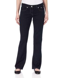Dickies Women's Relaxed Bootcut Jean.  Dark Stonewash,  16L