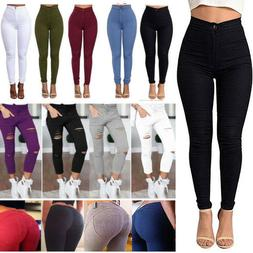 Womens Skinny Jeggings Jeans Stretch Long Pencil Pants High