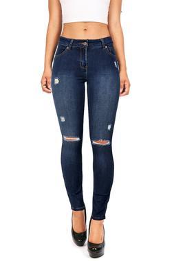 Women's Wax JeanS Slim Fit Skinny Jeans Distressed Stretchy
