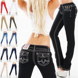 Women's Straight Leg Stretch Denim Jeans - S/M/L/XL/XXL