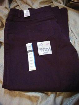 JMS By Hanes Womens Berry Jeans Size 24W Average~ Super Soft