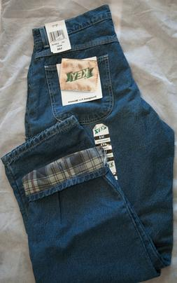 Womens Key Carpenter Jeans Flannel Lined Size 14 Average 100