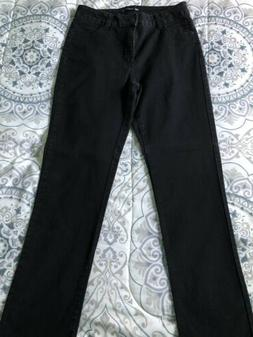 Womens Lee Classic Fit 1889 Stretch Jeans. Size 12M.  Black.