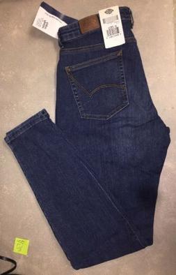 Dickies Women's Curvy Skinny Blue Denim Jeans 10 Regular.