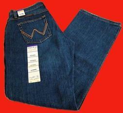 Womens Wrangler Q-Baby Mid Rise Boot Cut Tuff Buck Jeans WRQ