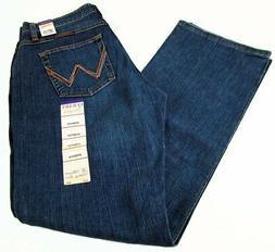 Womens Wrangler Q-BABY Tuff Buck Mid Rise Boot Cut Jeans WRQ