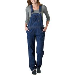 Dickies Womens Sz Medium Denim Bib Overall Jeans Indigo Stra
